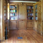 Secret Door. Custom designed and crafted Library with hand carvings