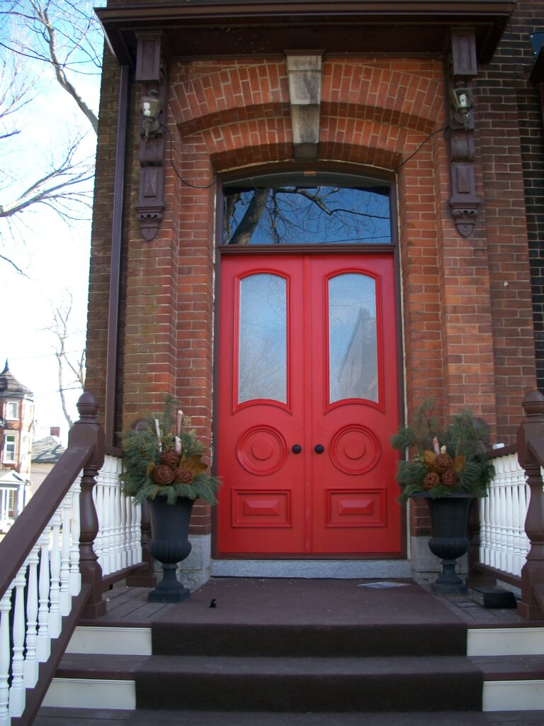 Custom designed doors and frame in historic Sydenham Ward, Kingston