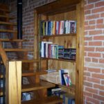 Grab a book on the way up to the loft bedroom!