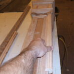 Hand carved Newel post stairs