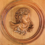 Hand carved Cherub in pine