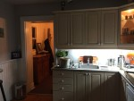 1990 kitchen. Note the wasted cabinet space in the 9' ceiling
