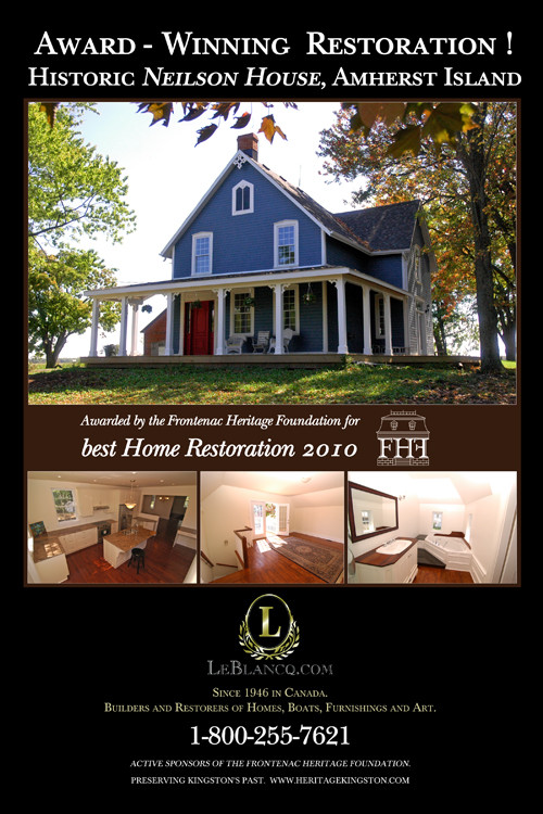 Awarded by the Frontenac Heritage Foundation for best restoration