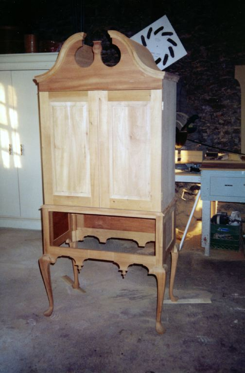 Queen Anne Highboy under construction