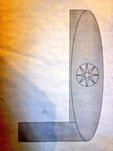 John Le Blancq's concept for an oval inlaid deck. Boats and docks should have no sharp corners.