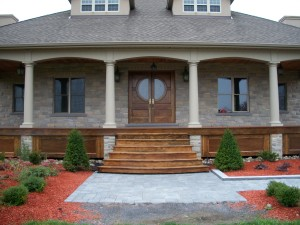 A new home featuring my interior and exterior designs and craftsmanship. Flooring, doors, cabinets, furniture and landscape in this home was crafted to fit.